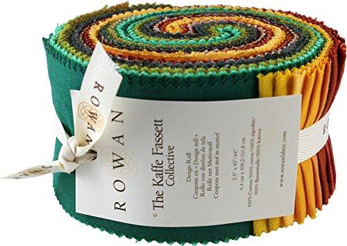 Kaffe Fassett Collective Shot Cottons Falling Leaves Design Roll 40 2.5-inch Strips Jelly Roll Rowan (Rowan Quilting Fabric)