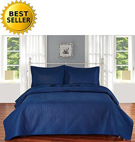 Elegant Comfort Luxury LightWeight 2-Piece Bedspread Cove...