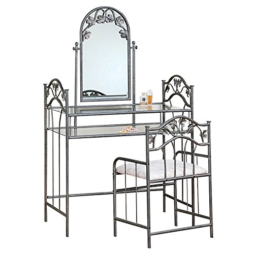 picture of 2-piece Vanity Set Pewter and Ivory
