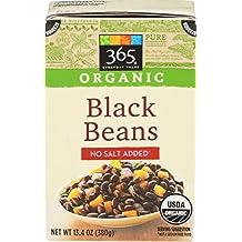 365 Everyday Value, Organic Black Bean No Salt Added, 13.4 Ounce