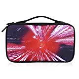 Voova Travel Case for Nintendo Switch Carrying Bag Holder 14 Games Anti-Scratch Lightweight Protective Portable Carry Pouch Shell for Nintendo Switch Console Accessories (red)