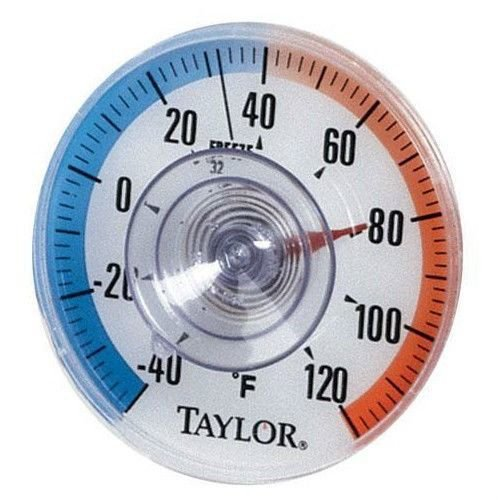 Taylor 5321 Suction Cup Window Dial Thermometer
