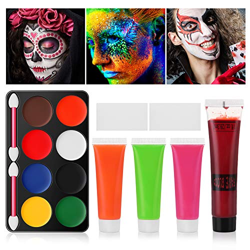 Halloween Face Painting Kits with Two Sponges -