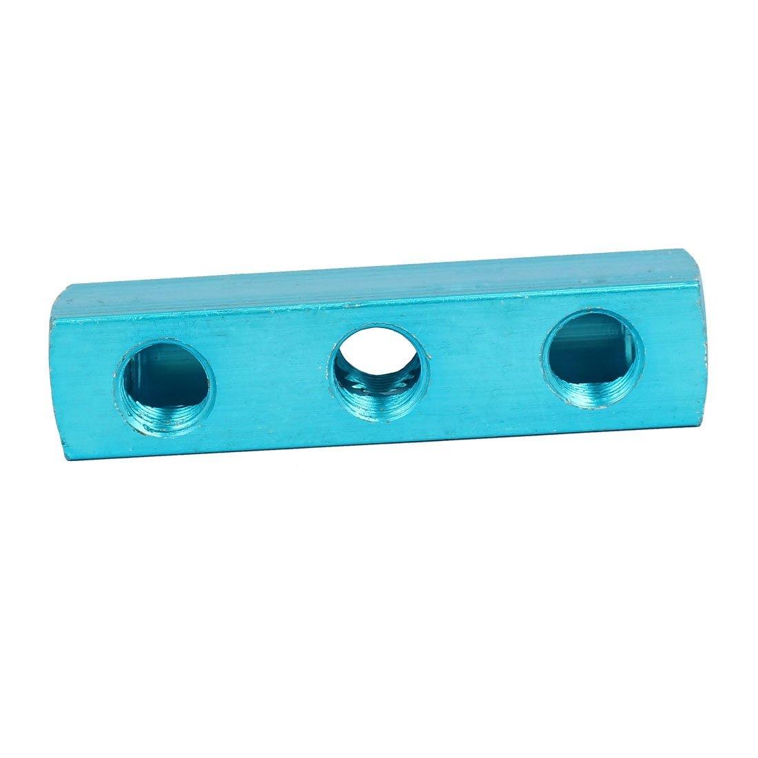 eDealMax 1/4 PT Tema 6 Puertos 3 Manguera de aire de manera Inline colector del divisor de bloque azul - - Amazon.com