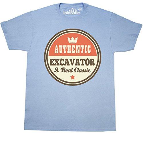 Inktastic - Excavator Vintage Classic T-Shirt Small Light Blue