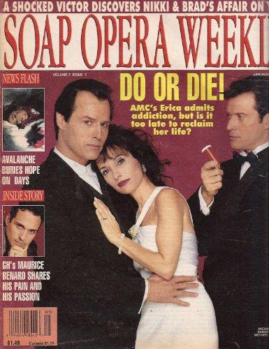 Michael Nader, Susan Lucci, Michael Sabatino, All My Children, Maurice Benard - January 30, 1996 Soap Opera Weekly Magazine