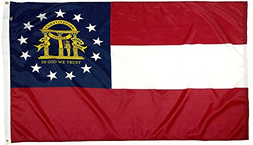 State Georgia Flag - FlagSource Georgia Nylon State Flag, Made in The USA, 3x5'