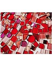 Mosaic Tiles Arts and Crafts 250g/pack Crystal Glass Mosaic Tile Irregular Shape DIY Hobbies for Kids Glitter Shiny Mixed Mosaic Stone Handmade Art Materials