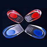 Gold Happy Silicone heel Cushion heel spur insoles relieve foot pain protectors Spur Support shoe heel feet care Insert