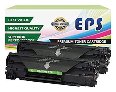 2 Pack EPS Compatible Replacement for Canon 128 Black toner Cartridges from EPS