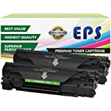 2 Pack EPS Replacement Canon 128 Black toner Cartridges