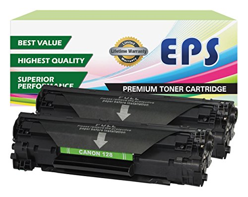 2 Pack EPS Compatible Replacement for Canon 128 Black toner Cartridges