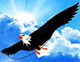 "The Mighty Bald Eagle 3d Kite with 6'- 6"" (78 Inch) Wing Span with Realistic Proportions and Made of Premium Materials"