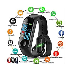 Sclout M3 Smart Fitness Band Activity Tracker with Heart Rate Sensor Compatible for All Androids and iOS Phone/Tablet