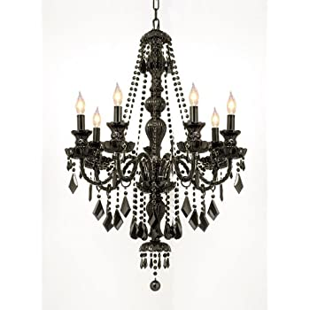 New jet black gothic crystal chandelier lighting h37 x w26 free s jet black gothic crystal chandelier lighting h37 x w26 aloadofball Gallery
