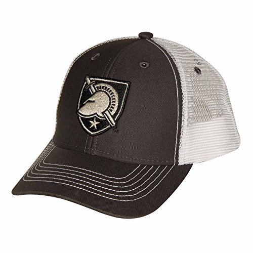 Ouray Sportswear NCAA Army Black Knights Youth Sideline Mesh Cap, Adjustable Size, Dark Grey/White - Knights Mesh Cap