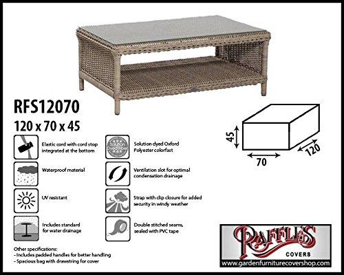 rfs12070 Telo Protettivo per Tavolo Arredi, intrecciato Tavolino da caffè , sgabello, Poggiapiedi O fussst Uetze, si adatta meglio al tavolo di Max. 115 X 65 cm. Plane, abdeckhaube, copertura, caso intrecciato Tavolino da caffè