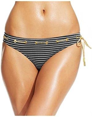 Jessica Simpson Women's Ship Shape Classic Hipster Bikini Bottom