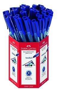 Faber-Castell Grip 2020 Palo Bolígrafos - Blue (Caja de 30)