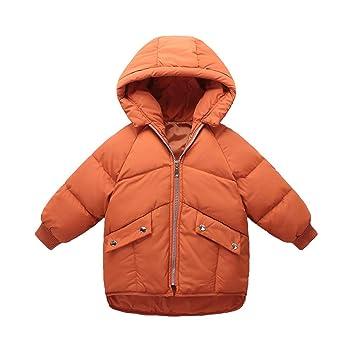 8768bf35e1f7b QCHENG Enfant Doudoune à Capuche en Duvet de Canard Chaud d hiver Fille et  Garçon