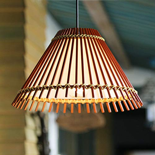 FidgetGear American Country Pastoral Style Bamboo Pendant Lamp Chandelier Hanging Light 190