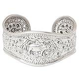 NOVICA .925 Sterling Silver Cuff Bracelet 'Precious She-Elephant'