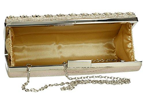 Sac main pochette PASSION à or strass femme FEMME avec VN1917 DE cérémonie qUZ1qxr