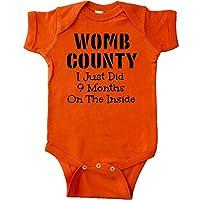 inktastic - Womb County I just Did 9 Months Infant Creeper Newborn Orange 1558b