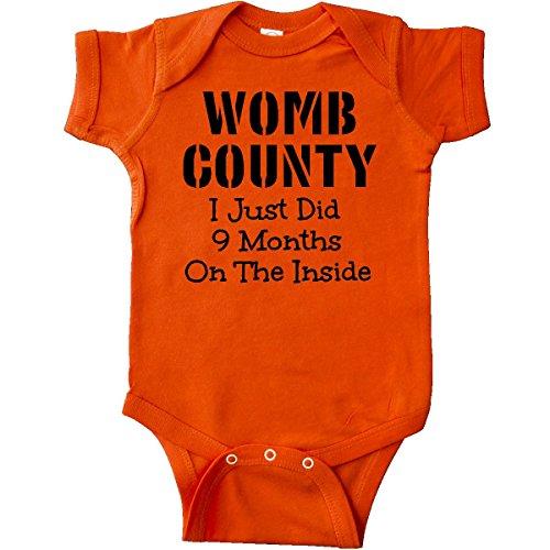 inktastic - Womb County I just Did 9 Months Infant Creeper Newborn Orange 1558b from inktastic