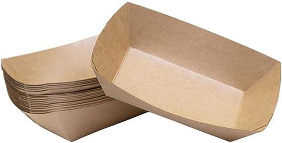 Lumanuby - 10 cajas de alimentos desechables de cartón. Cajas antiaceite y desechables para alimentos fritos, aperitivos, salchichas y hamburguesas: Amazon.es: Hogar