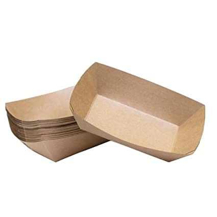 WDILO - 10 Cajas de Papel para el Almuerzo con Recubrimiento antiaceite, Cajas de Embalaje
