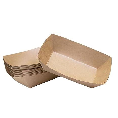 Lumanuby - 10 cajas de alimentos desechables de cartón Cajas antiaceite y desechables para alimentos fritos