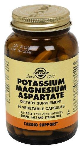 Solgar Potassium Magnésium aspartate capsules végétales, 90 comte