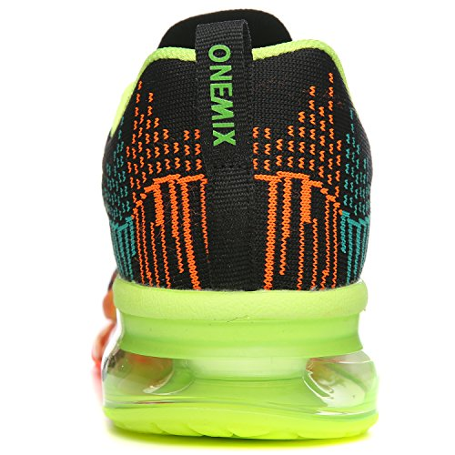 Onemix Vrouwen Luchtkussen Outdoor Sport Loopschoenen Lichtgewicht Toevallige Tennisschoenen Zwart / Groen
