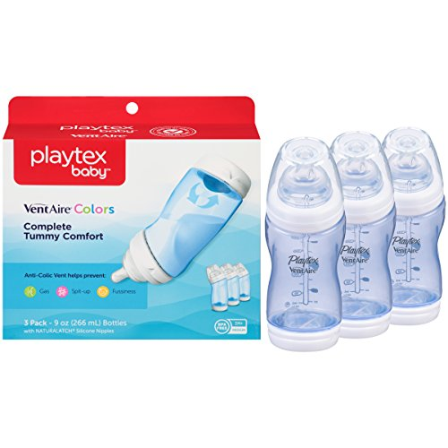Playtex Ventaire Advanced Bottle, Blue, 9 Ounce (Pack of 3)