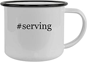 #serving - 12oz Hashtag Camping Mug Stainless Steel, Black