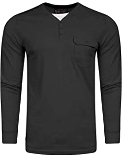 Dissident Mens Long Sleeve Top T-Shirt Fashion Y Neck Casual Jersey WHYER