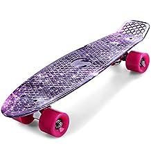OutLife Skateboard Retro Banana Board 22 inch Hip-hop Skull Mini Cruiser Street Surfing Skate