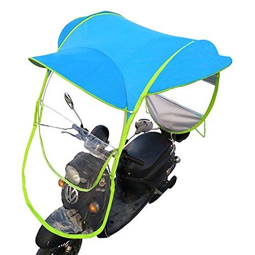 Universal Car Motor Scooter Umbrella Mobility Sun Shade Rain Cover Waterproof , Blue