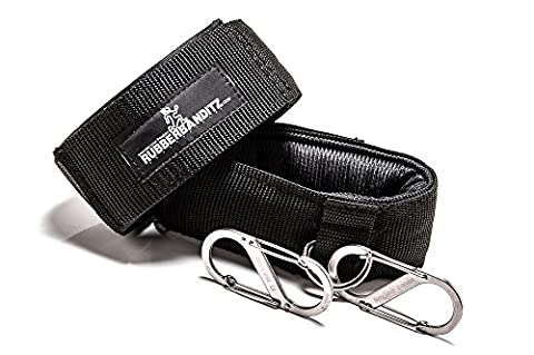 Rubberbanditz Ankle Cuff Grips & Carabiners – Best For Resistance Band Training, Adjustable Straps, Ankle Cuffs One Size Fits All – Backed By Our - Machine Spreader Bar