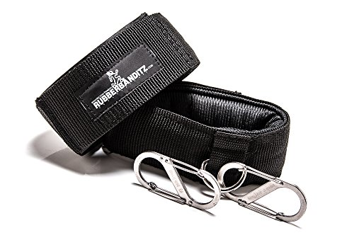 Rubberbanditz Ankle Cuff Grips & Carabiners - Best For Resistance Band Training, Adjustable Straps, Ankle Cuffs One Size Fits All - Backed By Our Guarantee (T-strap Mini Platform)