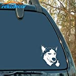 "Felizdecor Vinyl Animals Car Sticker Husky Dog Decal Waterproof Removable Car Decor,Laptop Decals (6"", L450) 6"