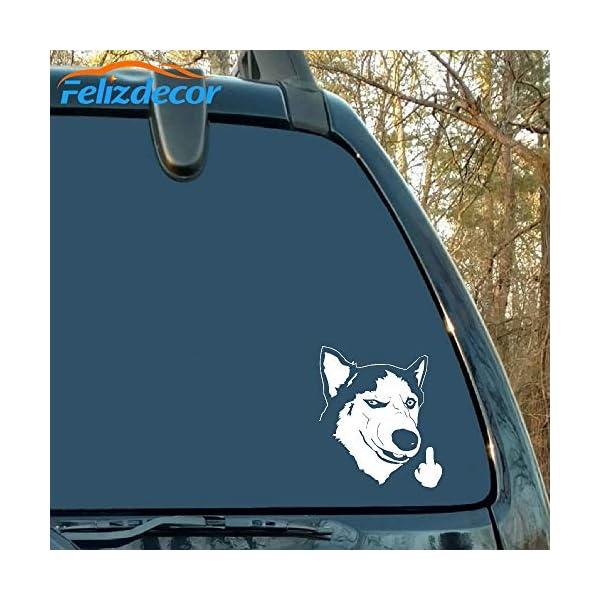 "Felizdecor Vinyl Animals Car Sticker Husky Dog Decal Waterproof Removable Car Decor,Laptop Decals (6"", L450) 2"