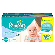 Pampers, Baby Fresh Baby Wipes, 864-Count, New!!!