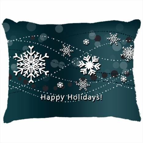 Custom fundas de almohada DIY diseño vacaciones copos de ...
