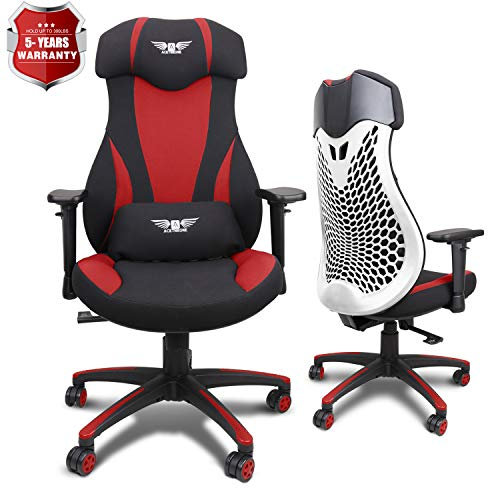 Acethrone PC Gaming Chair Ergonomic Office Chair Desk Chair with Lift Headrest and Armrests, Flexible Adjustable Height and Reclining Device