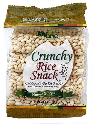 Jayone Rice Snack Crunchy Honey Ginger, 2.8 oz