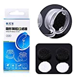 Nasal Filters, Super Defense Breathable Nose Filters Masks Hay Fever Pollen Pet Hair Mold Allergens Allergies Relief Dust Mask Air Pollution PM2.5 (S, Replacement Filter 2 Pairs)