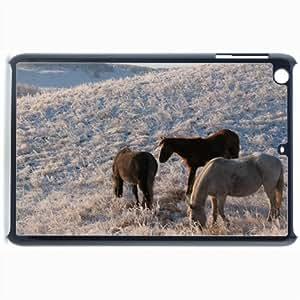 Customized Back Cover Case For iPad Mini 2 Hardshell Case, Black Back Cover Design Horse Personalized Unique Case For iPad Mini 2 wangjiang maoyi by lolosakes