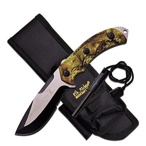 Elk Ridge ER-537CA-MC ER537CA-Brk Fixed Blade Hunter Camo For Sale